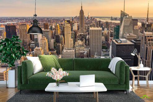 Фотообои Город по выгодной цене Нью Йорк на закате
