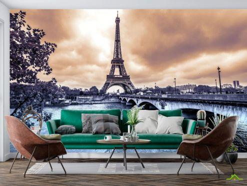 Париж Фотообои темное небо над Парижем