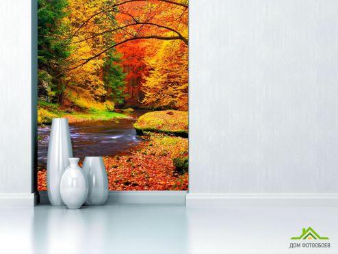 обои Природа Фотообои Вода, ручей, осень