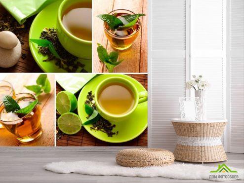 обои Еда и напитки Фотообои Зелёный чай