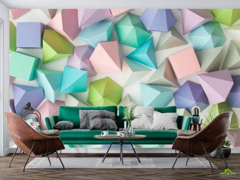 Геометрия Фотообои разноцветное бумажное оригами