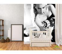 Фотообои Девушка с гантелями
