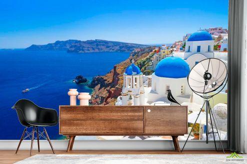 Каталог фотообоев Фотообои о. Санторини, Греция
