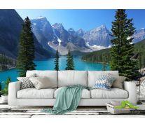 Фотообои большое озеро в горах