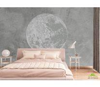 Фотообои Серая луна минимализм