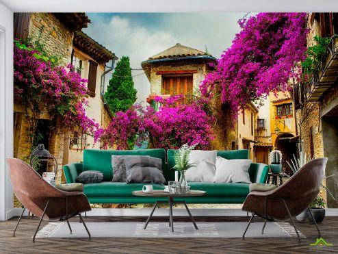в стиле прованс Фотообои Уютный дворик купить