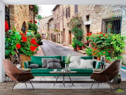 Улицы Фотообои Улочка в Асизи, Италия