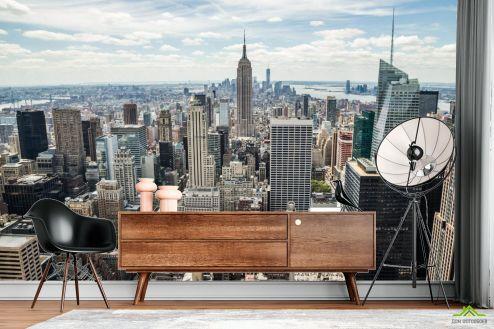 Фотообои Город по выгодной цене Фотообои Вид на Манхеттен