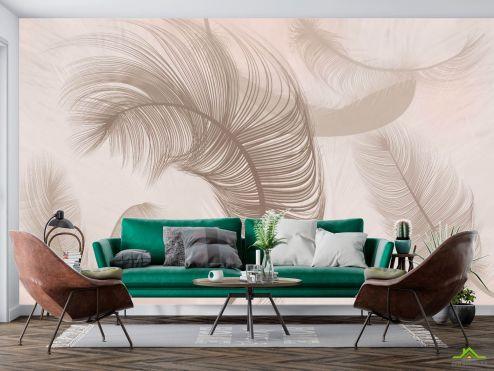 Фотообои перья по выгодной цене Фотообои Коричневые перья
