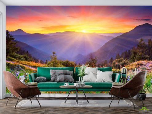 Природа Фотообои Рассвет в горах