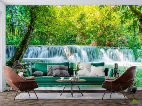по выгодной цене Фотообои бирюзовый водопад