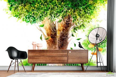 Иллюстрации Фотообои Дерево