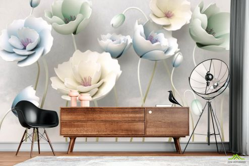 Фотообои Цветы по выгодной цене Фотообои 3d цветы