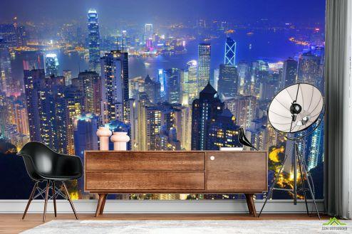 Фотообои Город по выгодной цене Фотообои Вид на ночной город