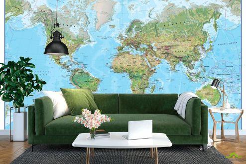 Карта Фотообои Вся карта мира