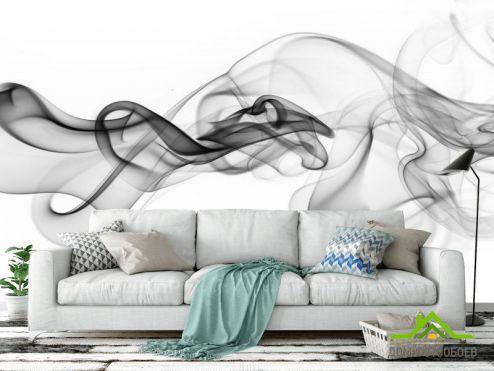 Черно-белые  Фотообои дым
