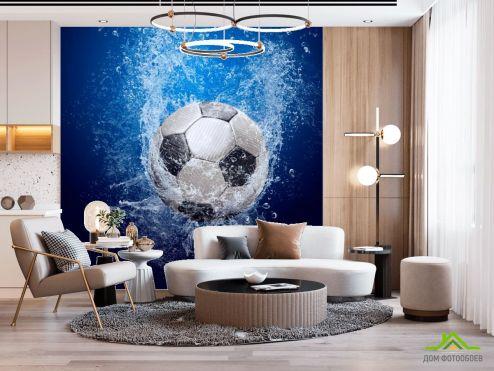 Спорт Фотообои Мяч в воде