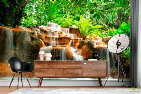 Водопад Фотообои Джунгли, вода