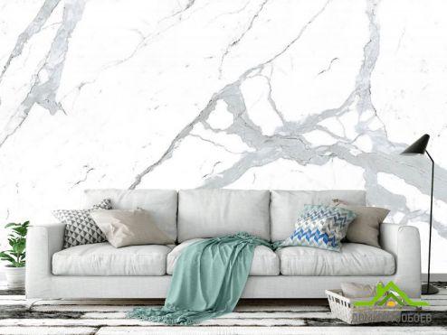 Мрамор Фотообои Белый керамогранит