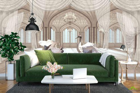 Расширяющие пространство Фотообои Комната с аистами