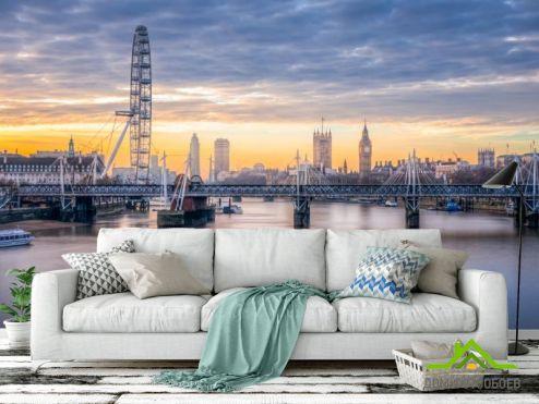 Лондон Фотообои мост над рекой в Лондоне