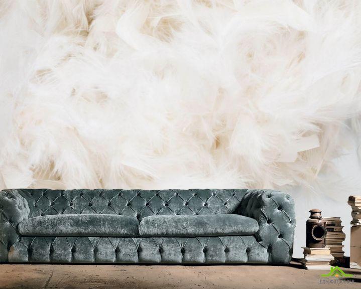 Фотообои Бежевые перья