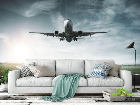 Фотообои Транспорт по выгодной цене Фотообои Самолёт на взлете