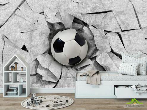 в детскую Фотообои Футбольный мяч 3Д