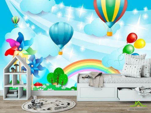 обои для малышей Фотообои Воздушные шарики