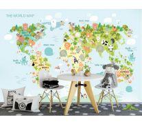 Фотообои Детская развивающая карта