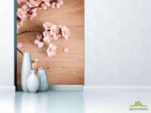 Вишня Фотообои Вишневые цветы на полировке