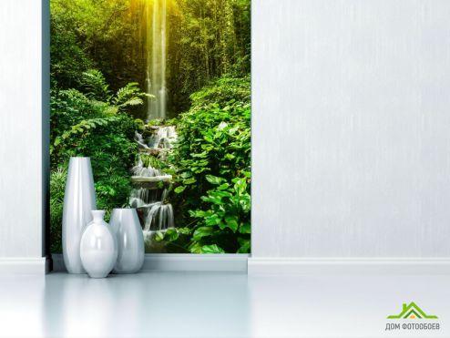обои Природа Фотообои водопад и лес