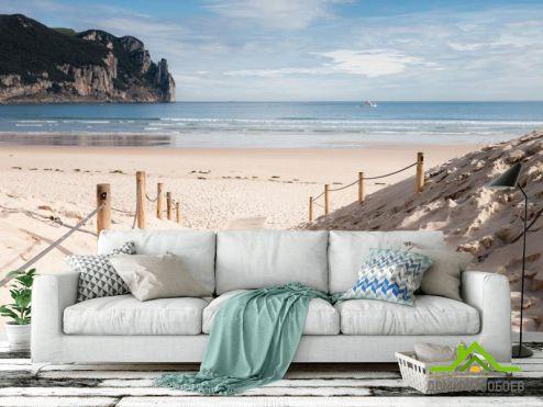 Море Фотообои Берег из белого песка