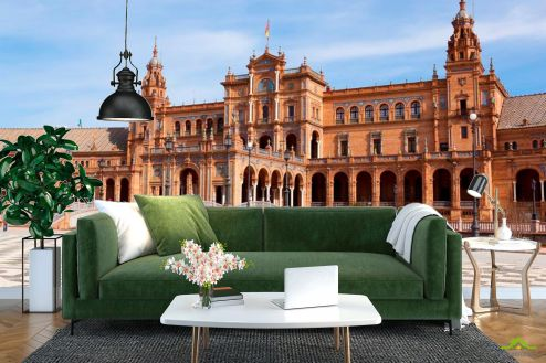 Архитектура Фотообои Площадь в Испании