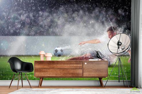 Каталог фотообоев Фотообои Игра под дождем
