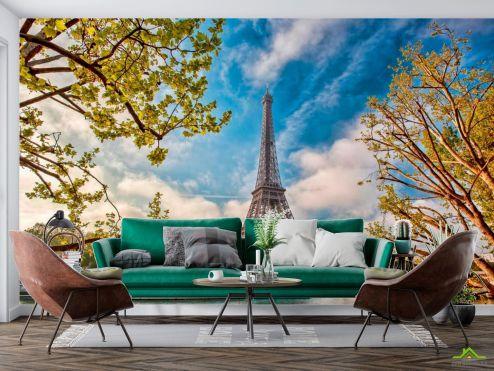 Старый город Фотообои Париж осенью купить