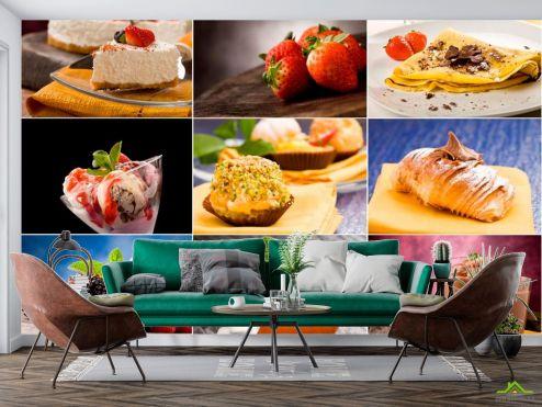 Еда и напитки Фотообои Десерт