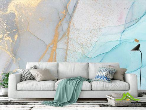 обои Каменная стена Фотообои Нежный флюид в голубом цвете