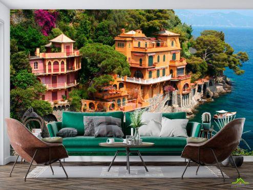 Старый город Фотообои Лигурийское побережье Италии