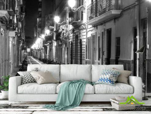 Улицы Фотообои Ночная красивая улочка