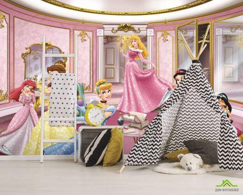 Фотообои в детскую по выгодной цене Фотообои Принцессы для девочки