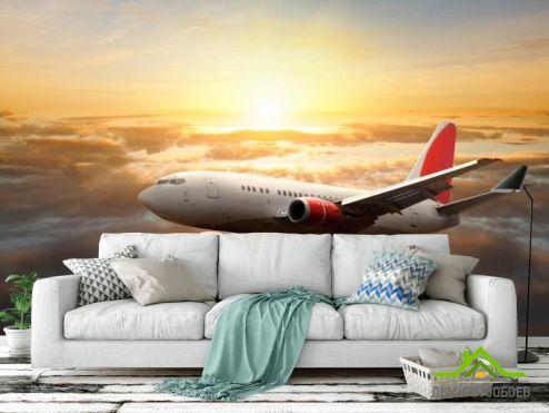 Транспорт Фотообои Самолет в небе
