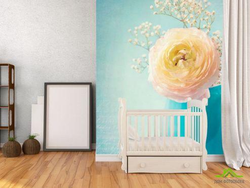 обои Цветы Фотообои Пион белый в вазе