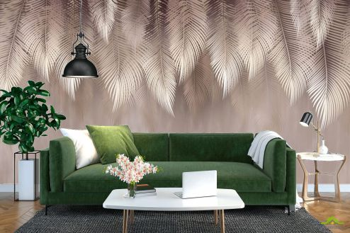 Эксклюзивные фотообои по выгодной цене Фотообои Дизайнерские листья коричневые
