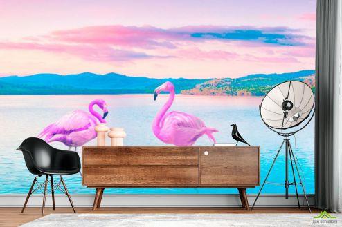 Животные Фотообои Фламинго