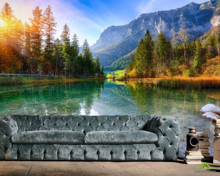 Фотообои прозрачное горное озеро