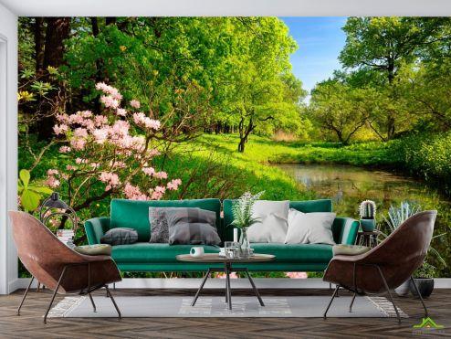 Фотообои Природа по выгодной цене Фотообои Цветочки и лес