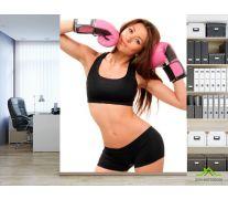 Фотообои Девушка в боксерских перчатках