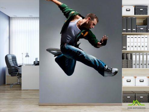 Серые обои Фотообои Спортивный танцор
