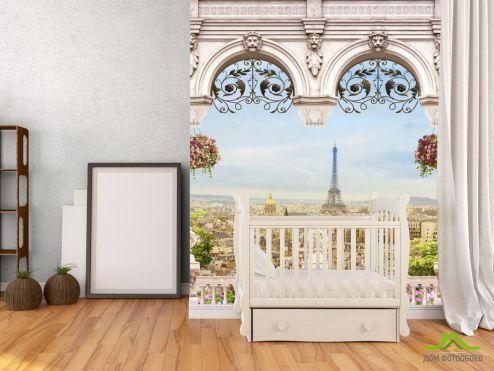 обои Фрески Фотообои Вид на Эйфилеву башню